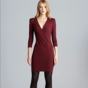 Burgundy French Connection Dress
